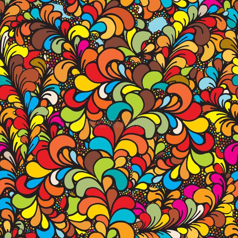 花卉生动的抽象波浪装饰品,手拉的传染媒介例证由简单的乱画做成 禅宗缠结样式,被缠结的纹理bo 库存例证