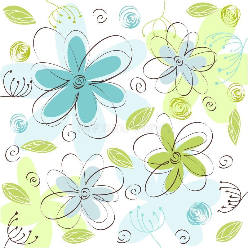 花卉看板卡 库存例证