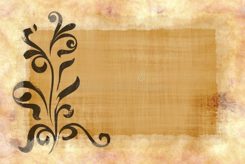 花卉纸羊皮纸纹理 皇族释放例证