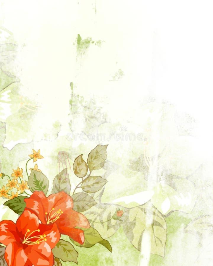 花卉纹理 向量例证