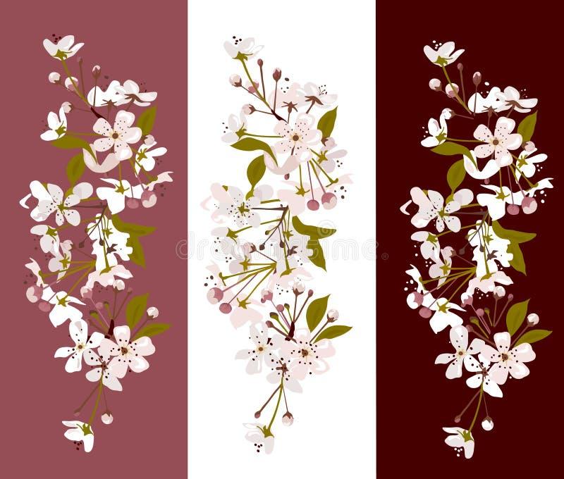 花卉组 向量例证