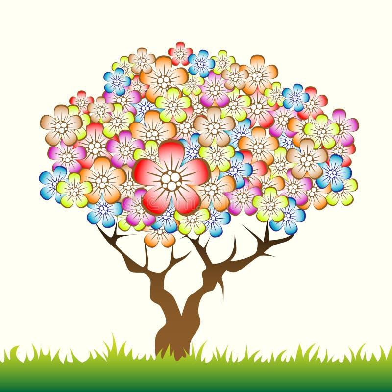花卉结构树 向量例证