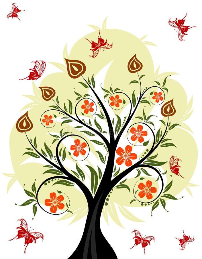 花卉结构树 库存例证