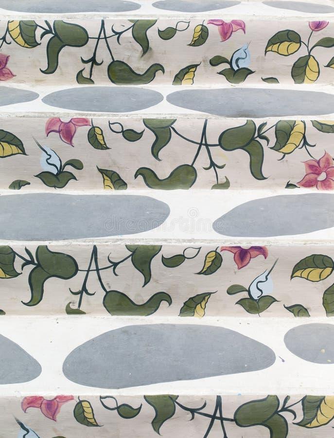 花卉绘画模式台阶 库存照片