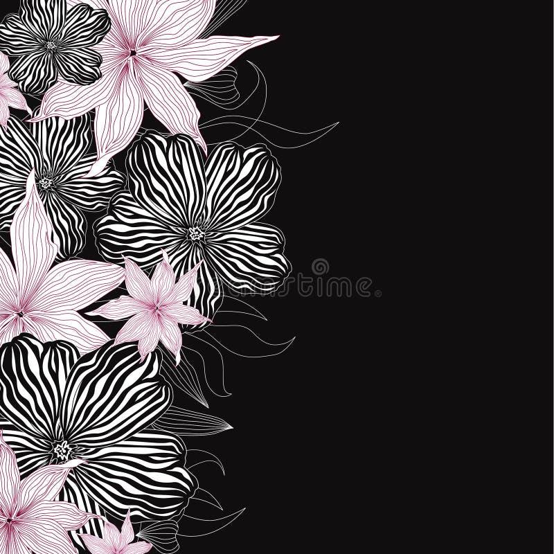 花卉背景。柔和的花纹花样。 库存例证
