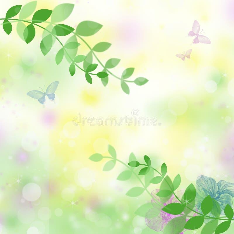 花卉背景正方形图表 向量例证