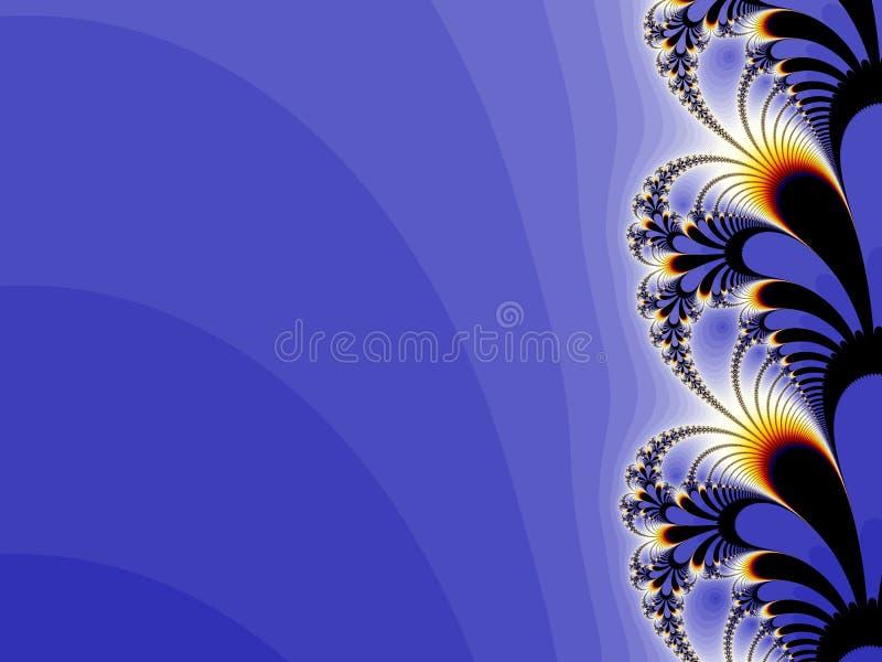 花卉背景蓝色设计 免版税图库摄影