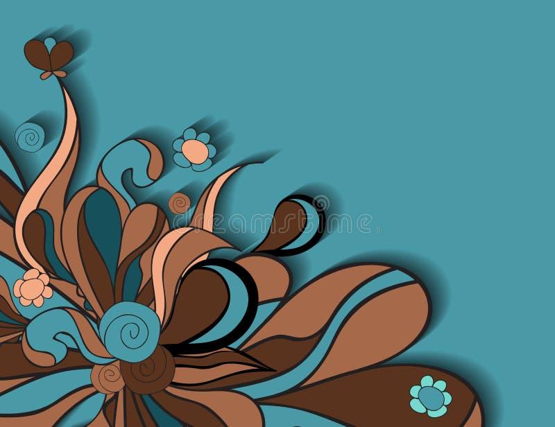 花卉背景设计理想地说使用您的向量 向量例证