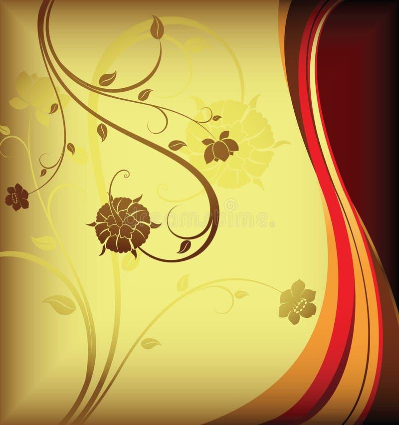 花卉背景设计 皇族释放例证
