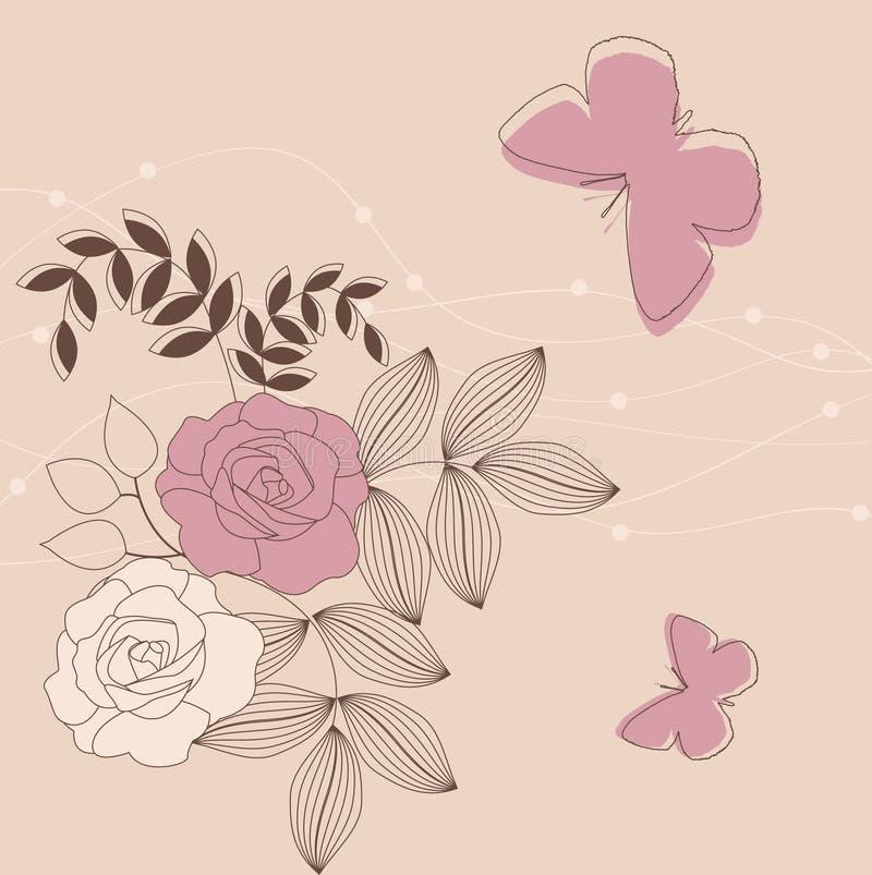 花卉背景 皇族释放例证