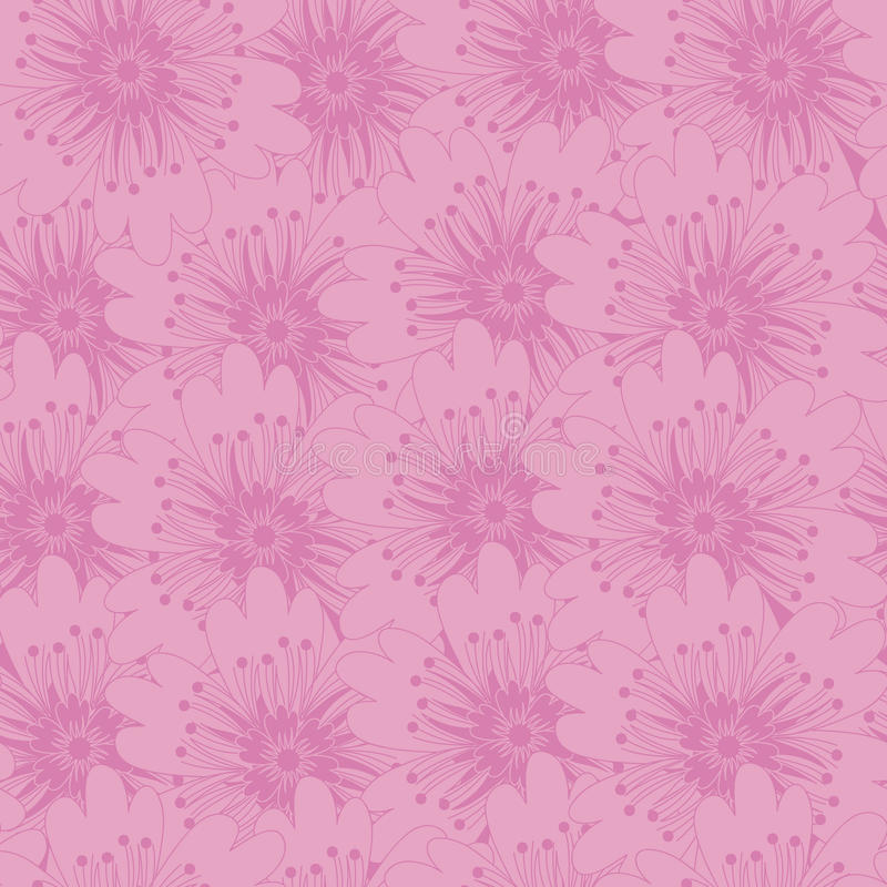 花卉背景 向量例证