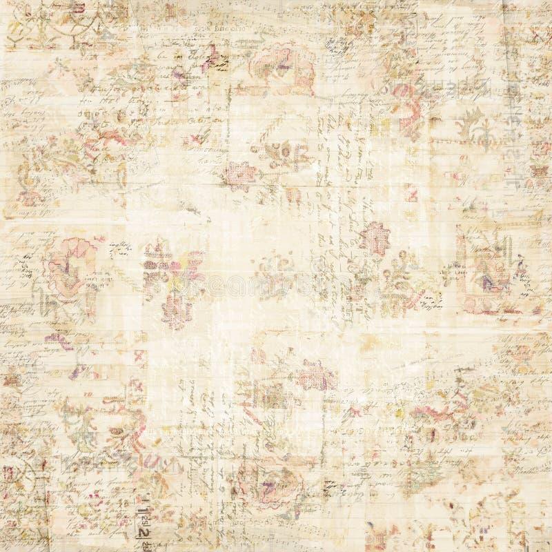 花卉脏的墙纸 免版税库存照片