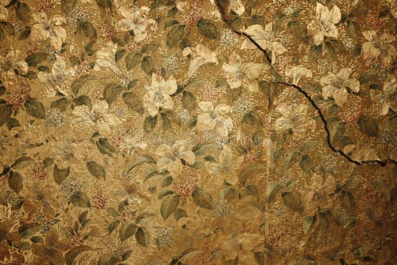 花卉葡萄酒墙纸 库存图片