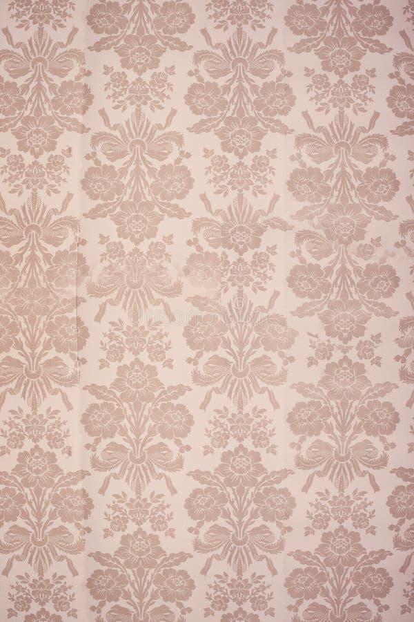 花卉葡萄酒墙纸 库存照片