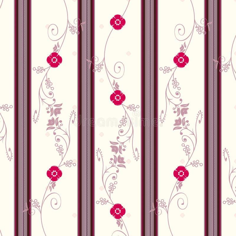 花卉葡萄酒墙纸 皇族释放例证