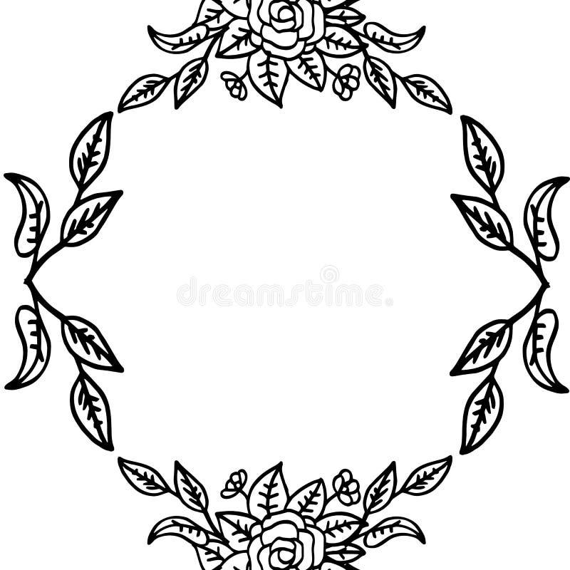 花卉葡萄酒独特的样式,墙纸婚礼请帖 ?? 库存例证