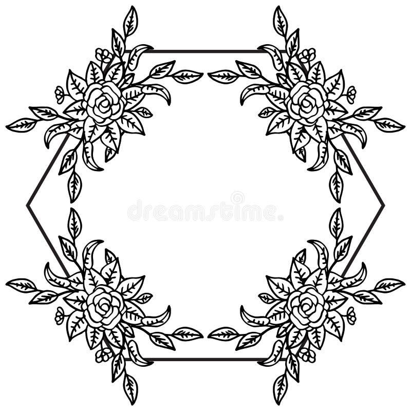花卉葡萄酒独特的样式,墙纸婚礼请帖 ?? 皇族释放例证
