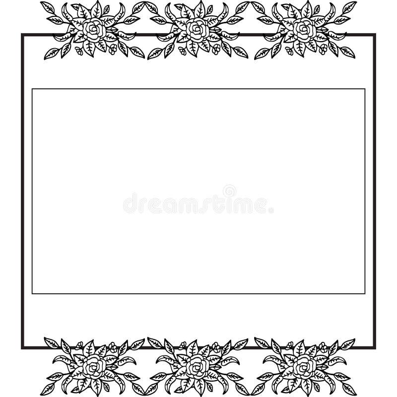 花卉葡萄酒独特的样式,墙纸婚礼请帖 ?? 向量例证