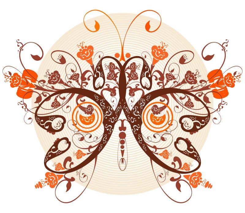 花卉蝴蝶 向量例证
