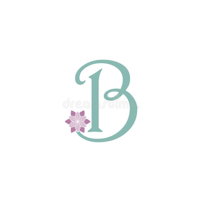 花卉被称呼的信件B商标象 库存例证