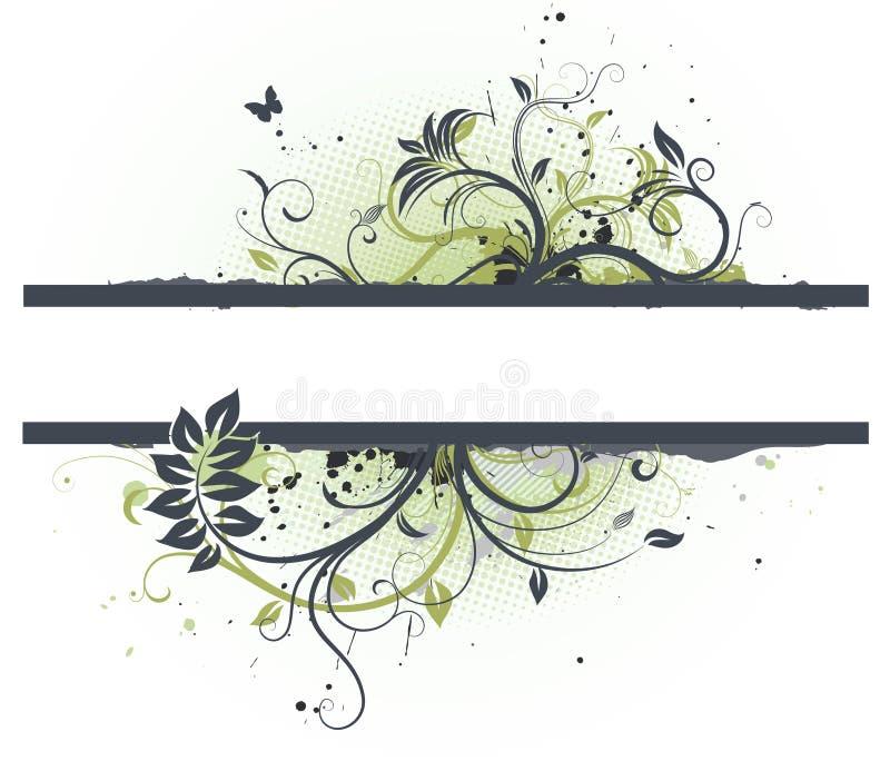 花卉装饰横幅 库存例证