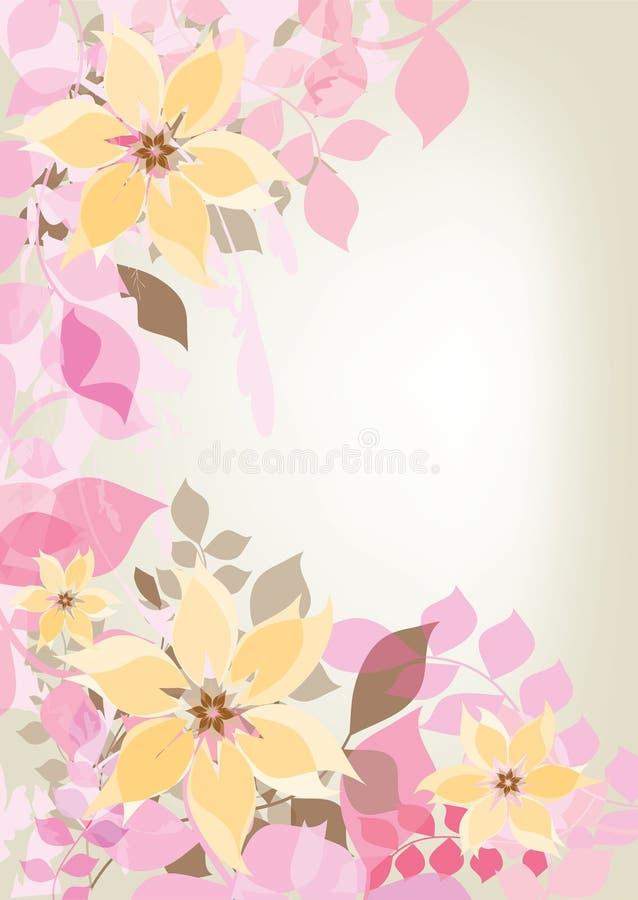 花卉装饰 库存例证