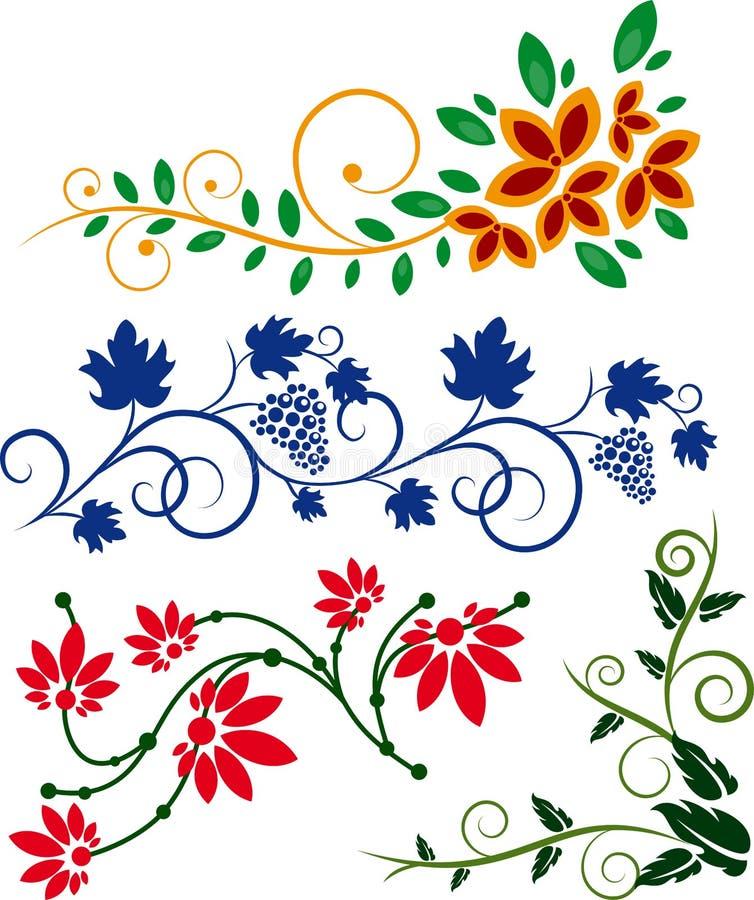 花卉要素 皇族释放例证