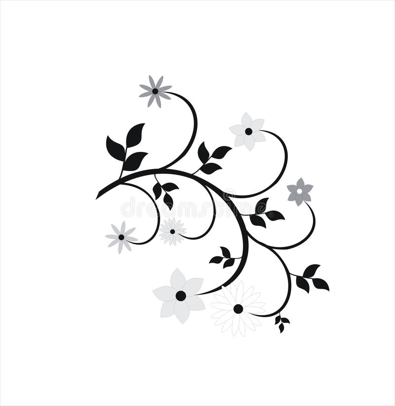 花卉要素 库存例证
