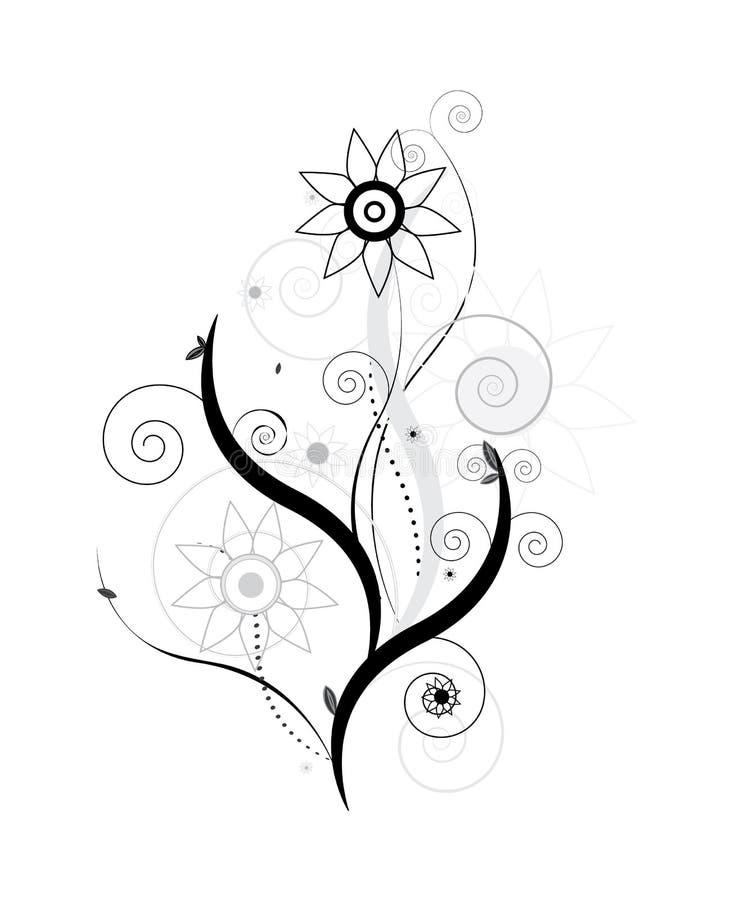 花卉设计向量 库存图片