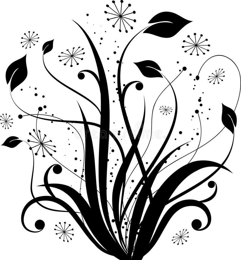 花卉设计 皇族释放例证