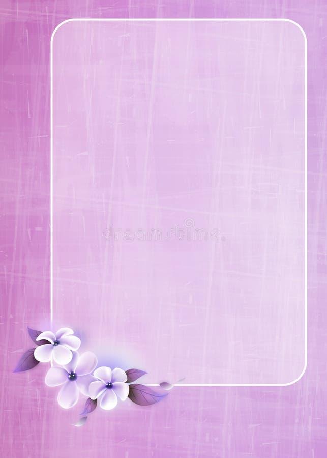 花卉贺卡设计 向量例证