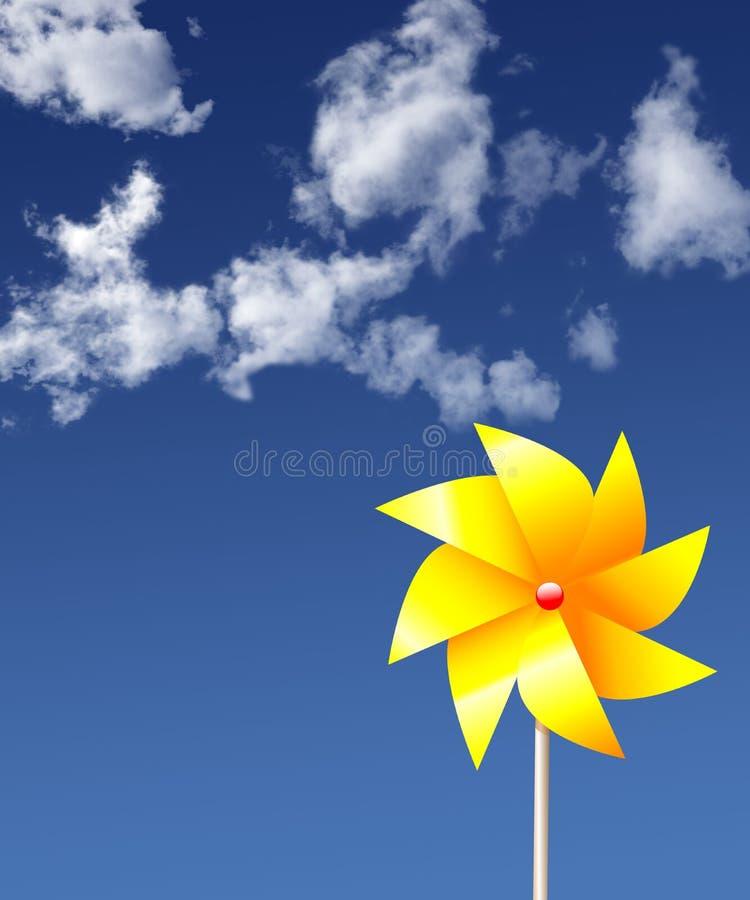 花卉轮转焰火天空夏天 皇族释放例证