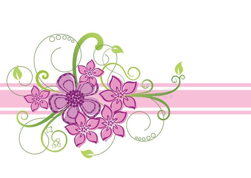 花卉边界设计 库存例证