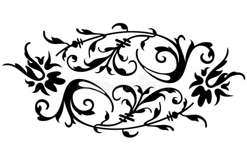 花卉边界 图库摄影