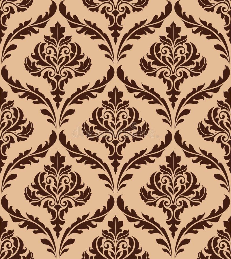 花卉锦缎无缝的样式 向量例证
