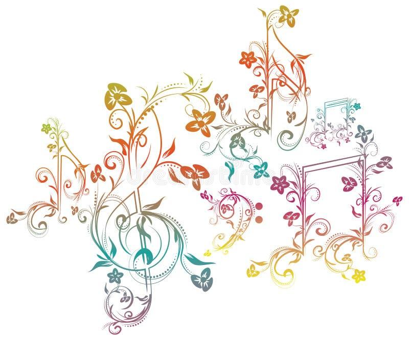花卉音乐笔记 皇族释放例证