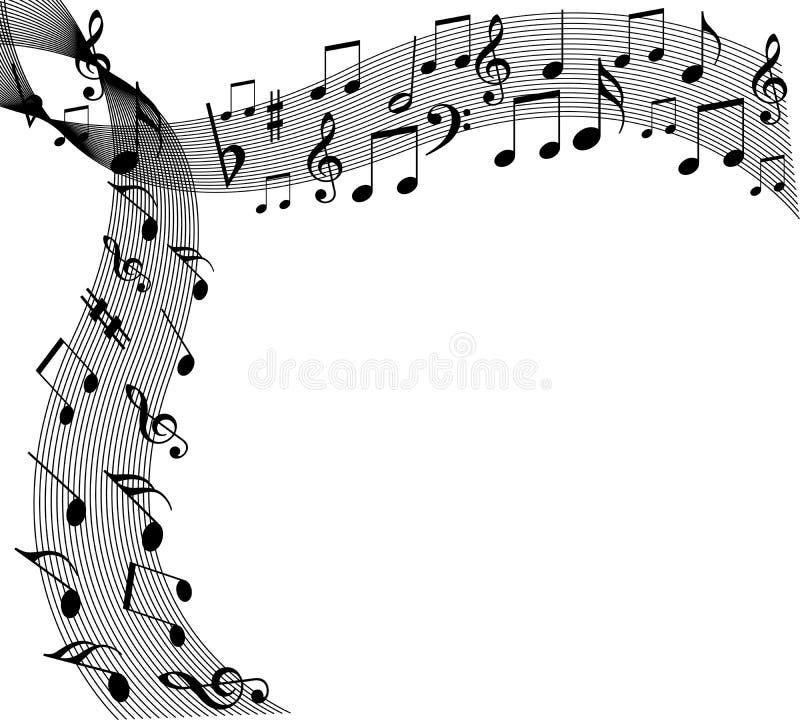 花卉音乐 向量例证