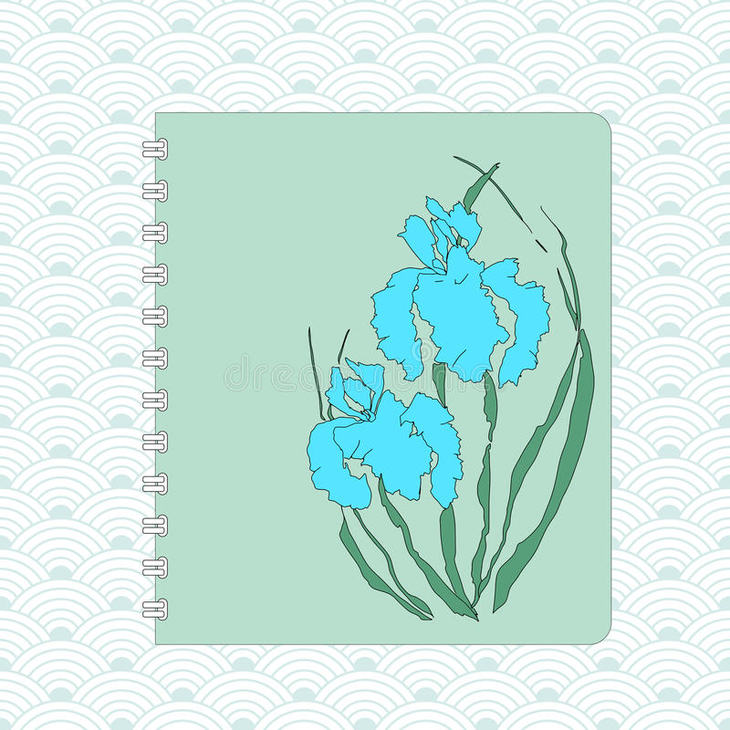 花卉飞行物设计 手图画例证 向量例证