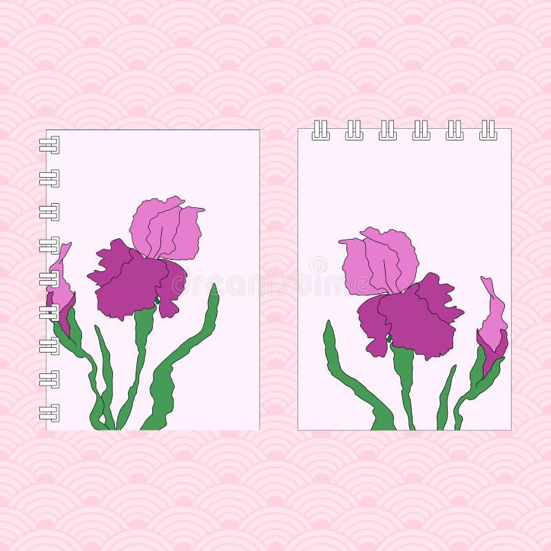 花卉飞行物设计 手图画例证 库存例证