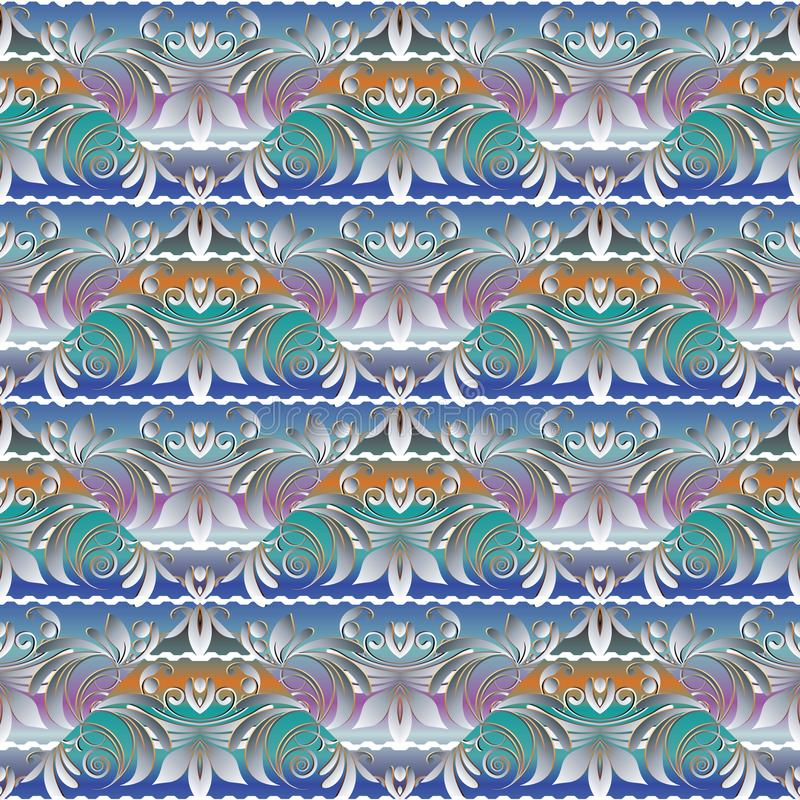 花卉高雅无缝的样式 轻的五颜六色的现代backgrou 向量例证