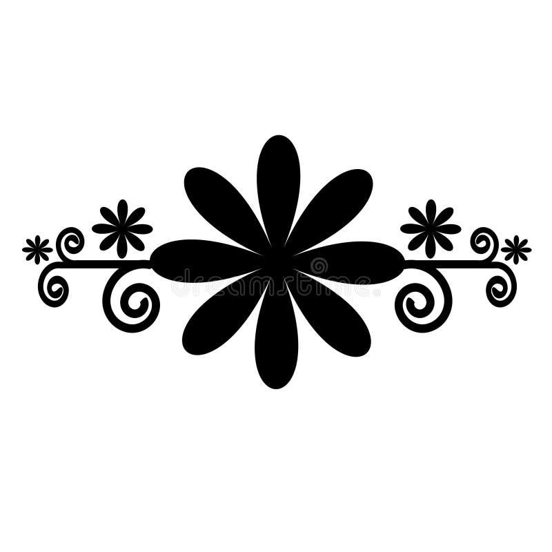 花卉黑色要素 库存例证