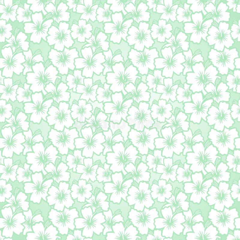 花卉无缝的木槿样式 库存例证