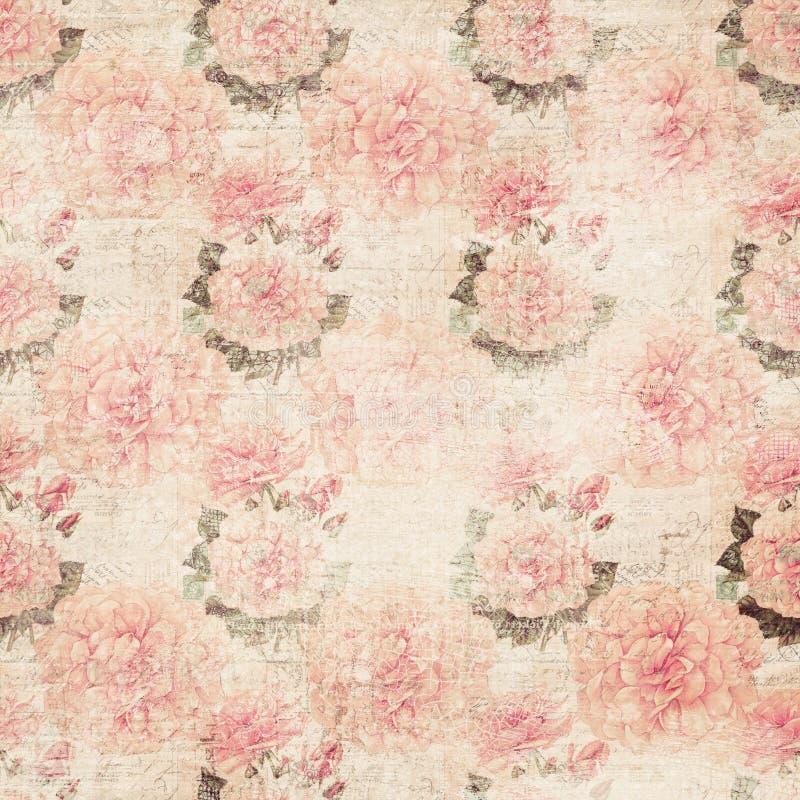 花卉grunge墙纸 图库摄影