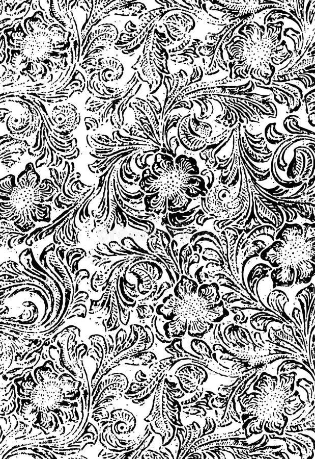 花卉grunge纹理 向量例证
