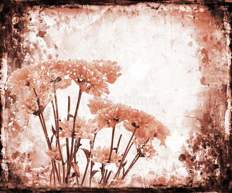 花卉grunge 向量例证