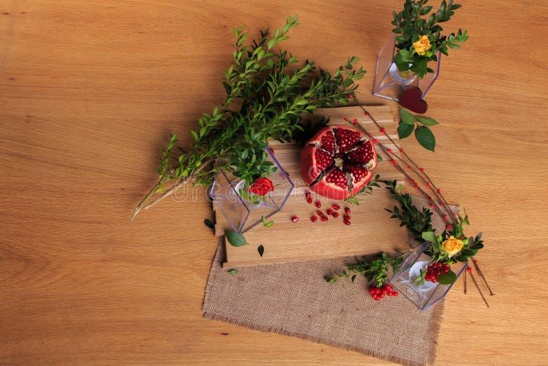 花和光的美好的陈列 库存照片