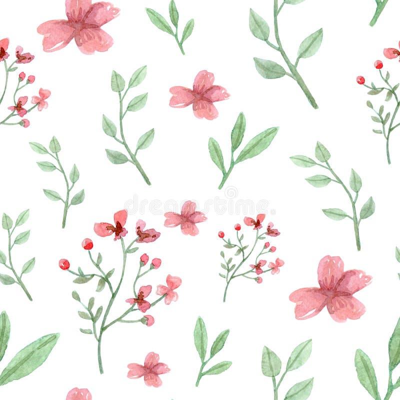 花和叶子样式 库存例证