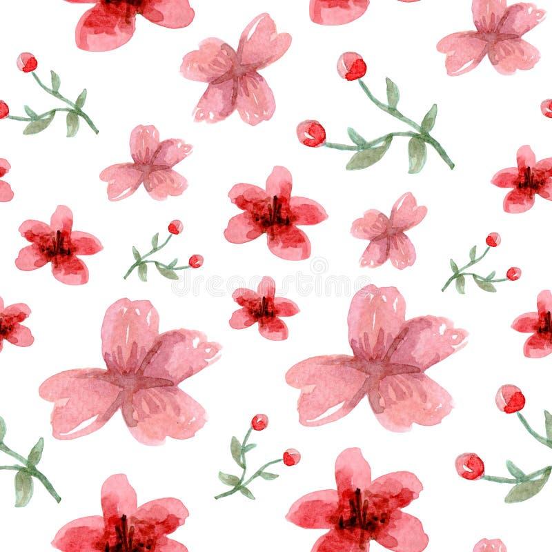 花和叶子样式 向量例证