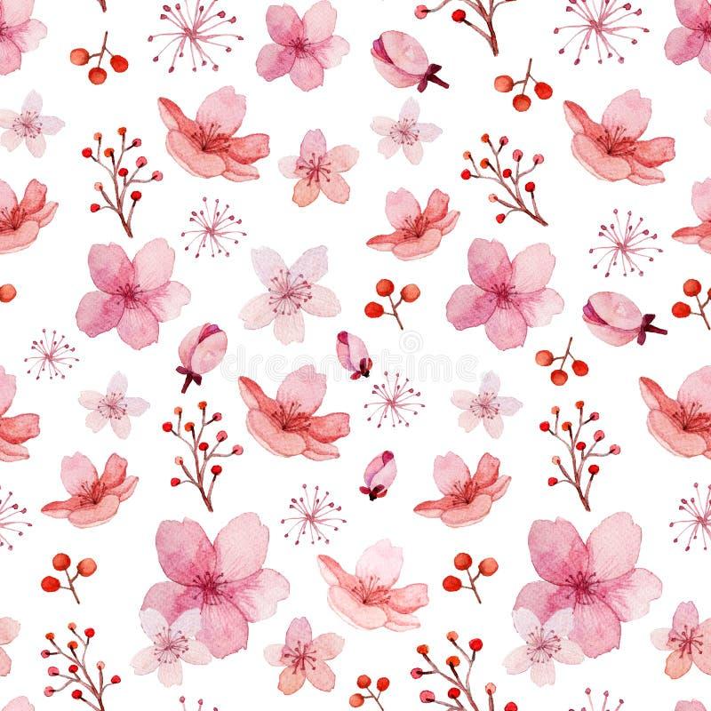 花和叶子样式 皇族释放例证