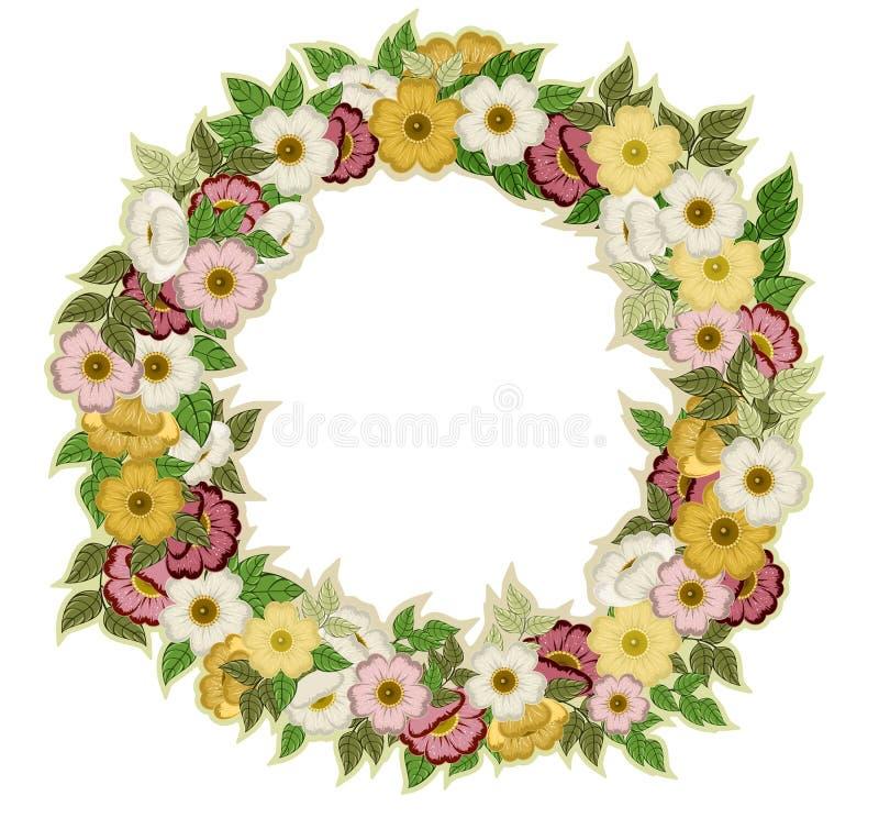 Download 从花和叶子的圆的框架 向量例证. 插画 包括有 来回, 邀请, 柔和, 浪漫, 节假日, 空间, 叶子, 标签 - 72368095